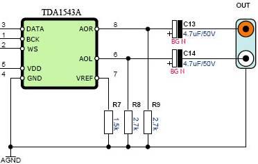 Semplice DAC con TDA 1543 TDA1543_sch_color